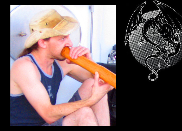 Playing the Didgeridoo Live.